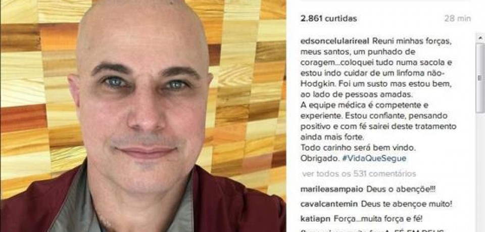 Edson Celulari é diagnosticado com câncer