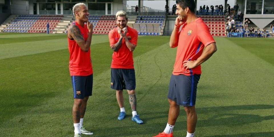 Unidos de novo: trio MSN treina junto pela primeira vez em quase 4 meses