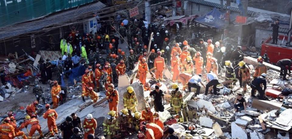 Desmoronamento de prédios mata 4 pessoas na China